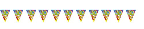 Wimpel-Girlande Partyspaß 30. Geburtstag 10 m