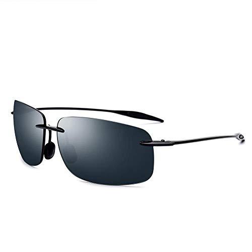 LKVNHP Ultem Tr90 Randlose Sonnenbrille Männer Ultraleichte Hochwertige Quadratische Rahmenlose Sonnenbrille Für Frauen Markendesigner Nylon ObjektivDunkelgrün