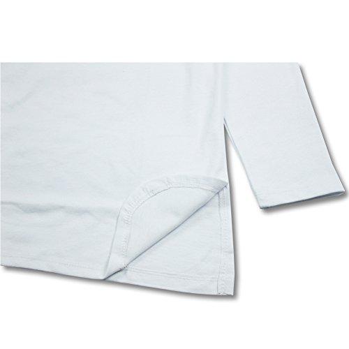 VFIVE UNFOUR Herren Langarmshirt White and right-angle hem