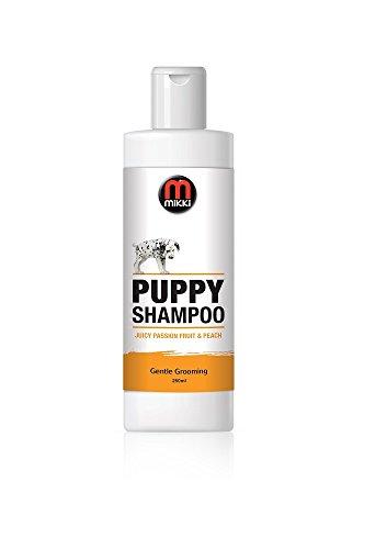 Mikki 6300236 Puppy Grooming Shampoo, Pflegendes Welpen, 250 ml, duftet nach saftiger Passionsfrucht & Pfirsich (Welpen-shampoo)