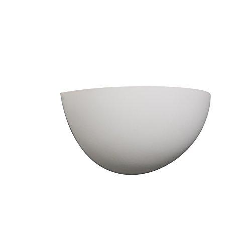 QAZQA Moderne Applique murale Gipsy demi-lune plâtre Blanc Rond/Globe E14 Max. 1 x 40 Watt/Luminaire/Lumiere/Éclairage/intérieur/Salon/Cuisine