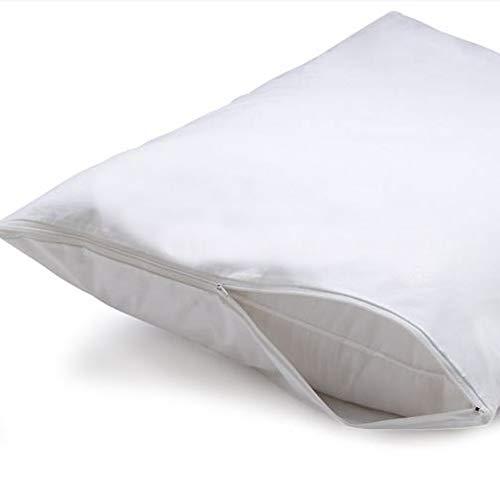 Giovanni dolcinotti bed collection | set 2 federe copricuscino con cerniera - antiacaro e traspirante, cotone (basic, 50 x 80)