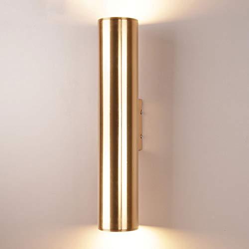 NHX Wandlampe Flurlampe LED Up Down Aluminium Wandleuchte Creative Wohnzimmer Schlafzimmer Badezimmer Küche Esszimmer Wandbeleuchtung Wandlicht Wandstrahler Downlighter Champagnergold
