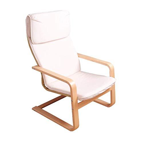 CJC en Bois Se Prélasser Bascule Plate-Forme Balancement Chaise Relaxant Inclinable Salon Siège Amovible Coussin