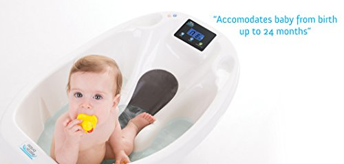 Baby bath Aquascale bath for bathing baby with digital baby scale and bath thermometer