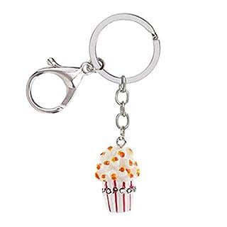 Hacoly Tasche Handtaschenanhänger Vintage Schlüsselanhänger Auto Schlüsselbund Popcorn Taschenanhänger Schlüsselbund Schlüsselringen Keychain Schlüsselhalter Anhänger