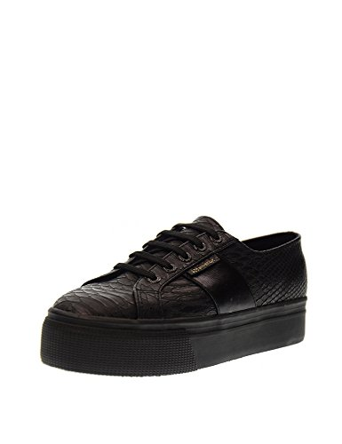 Superga Damen 2790-Pusnakew Niedrige Sneaker Black