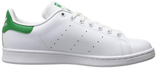 adidas Originals Stan Smith, Sneakers Unisex – Adulto Bianco (Running White Ftw/Running White/Green)