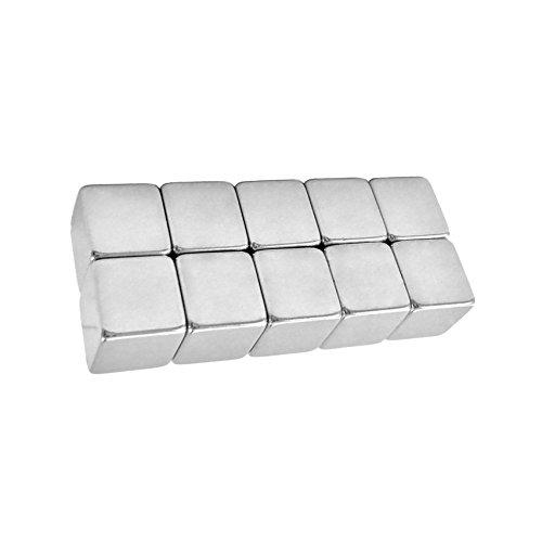 XL Neodym Magnete Würfel 10mm Extra Stark [10 oder 25 Stück] Glastafel Memoboard Magnettafel (10)