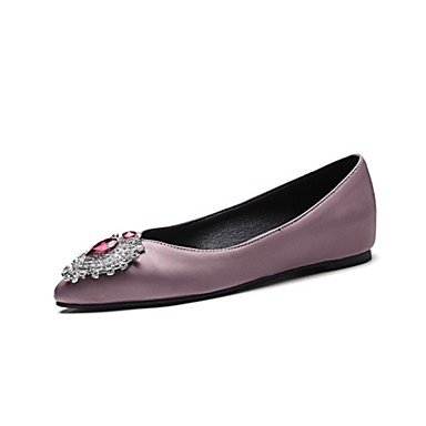 Wuyulunbi@ Scarpe donna raso molla materiali rientrano Comfort Ballerina Appartamenti Appartamento Punta strass per Office & Carriera Party & US7.5 / EU38 / UK5.5 / CN38