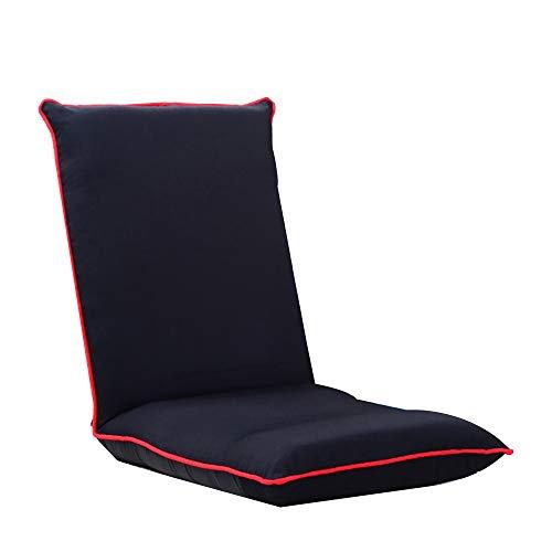 YIKUI Klappstühle Verstellbare Sitzboden, Rückenstütze, EIN Sitz mit faltbarem Fußboden-Auflage, Das Spiel kann wie Stühle, Stühle verwendet oder Meditation Lesen und Fernsehen - Metall-futon-matratze