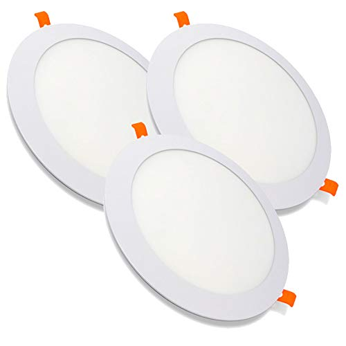 Pack de 3 Paneles LED Redondos ECOMAX · Downlight LED para Encastrar...