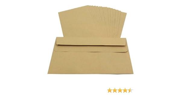 200x DL Paper Envelopes Self Seal White Plain Size 110x220mm FREE P+P