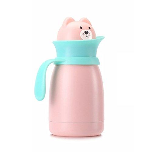 BTAMZ 10 Oz Animal de dibujos animados 304 taza de café de viaje de botella portátil de la caldera del vacío del acero inoxidable con la tapa - mantiene frío y caliente