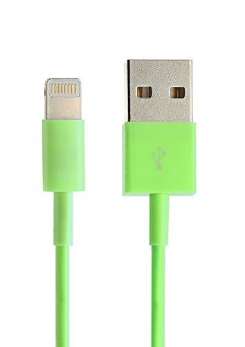 iprotect Original 1x USB Ladekabel/Datenkabel für Apple iPhone 5 5s 5c SE, iPhone 6 6 Plus 6s 6s Plus, iPhone 7 7 Plus, iPhone 8 8 Plus, iPhone X, iPad in grün