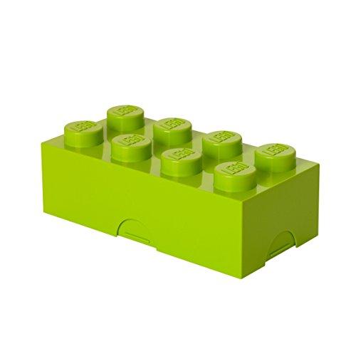 LEGO Brotdose mit 8 Noppen, Kleine Aufbewahrungsbox, Stiftebox, lindgrün