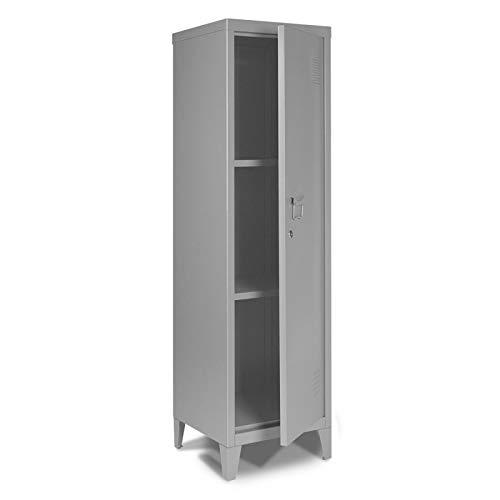 IDMarket - Armoire vestiaire Stella en métal grise