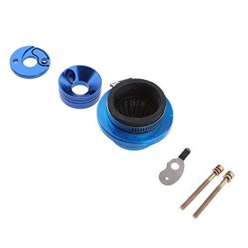 Shiwaki Leistung 45mm Luftfilter + Adapterstapel Für 23 33 43 49 CCM Roller - Blau (49cc Mini-gas-chopper)