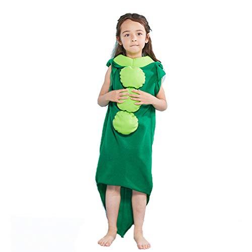 Sllowwa Unisex Kinderkostüm Erbse Kinder Jumpsuit Cosplay Kostüm Siamesische Kleidung Freizeitkleidung Halloween Karneval - Prinzessin Erbse Kostüm
