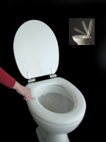Polsi Soft WC Sitz gepolstert Farbe weiss mit Absenkautomatik