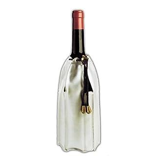 Anik-Shop Gel FLASCHENKÜHLER mit Kordel Grau Champagnerkühler Kühlmanschette Weinkühler 92