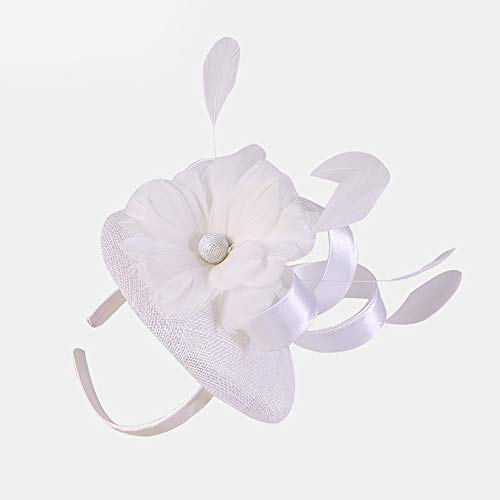 rs Hüte, Flower Charming Mesh Feder Haarspange Kentucky Derby Hüte, Stirnband Cocktail Kopfbedeckungen, Tea Party Hat für Church Ball Hochzeit ()