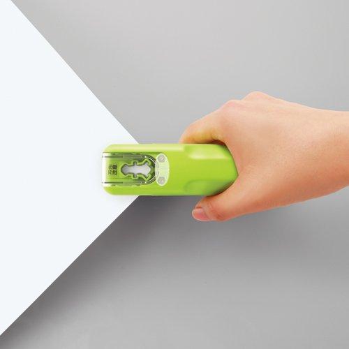 Papiertacker ohne Klammern / Umweltfreundlich Heftgerät/Hefter 8Blatt, Grün - 4