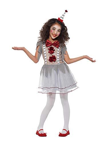Smiffys Vintage Clownmädchen - Halloween Clown Kostüm Kinder Mädchen