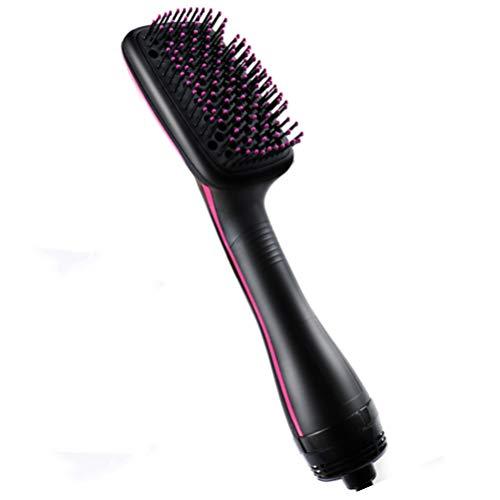 2-in-1 One-Step-Haartrockner und Styler, Fön Hot Air Paddle Brush Ionen-Technologie Salon Haarglätter Perfekt für trockene sowie nasses Haar