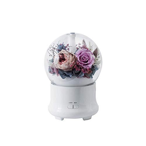 Ewige Blume Duftmaschine LED Ultraschall Luftbefeuchter Öl Aroma Diffusor Duftmaschine Farbwechsel Home Decor Aroma Luftbefeuchter für Festival Geburtstag Praktisches Geschenk für Frauen