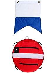 perfk Flotador de Superficie de Buceo Boya de Agua, Flotador de Agua Profesional + Bandera