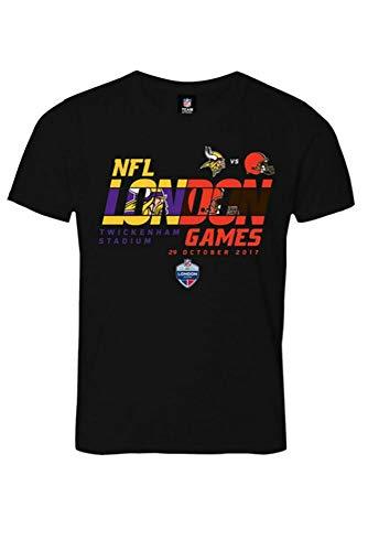 Majestic NFL MINNESOTA VIKINGS vs. CLEVELAND BROWNS London Games 2017 Match Up T-Shirt, Größe :XL