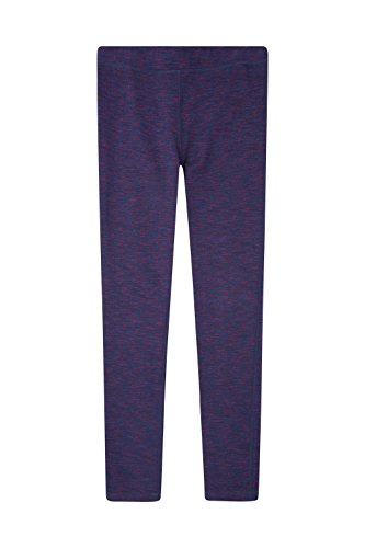 Zakti Girls Stylish Leggings - Mid Rise, Quick Drying & Super Stretchy - Ideal To Wear Outdoors Spacey Purple 9-10 Years