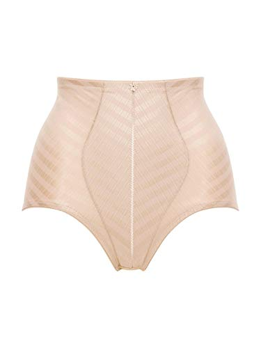 Felina 8076-34 Women's Weftloc Sand Beige Firm/Medium Control Slimming Shaping High Waist Brief XLarge Size 85