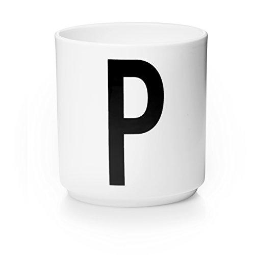 Design Letters - Becher - Buchstabentasse - Buchstabe: P - Porzellan - Arne Jacobsen Design-porzellan
