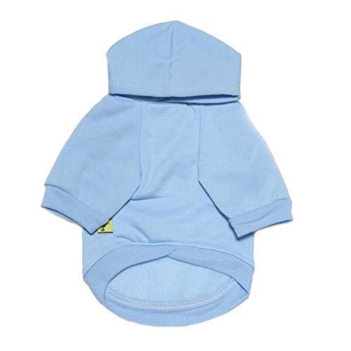 YWLINK Kleiner Hund Hoodie Mode Warm Puppy T-Shirt Mit Kapuze Kleiner Hund Teddy Plus Samt T-Shirt(Blau,M) (Hund Süßeste Kostüme)