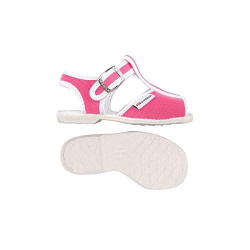Superga 1200-Cotj, Chaussures à Brides Unisexe-Enfant, Rose Fuchsia