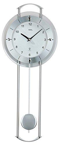 Preisvergleich Produktbild AMS 5254 Pendeluhr Funk Modern Aluminium