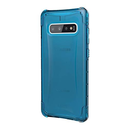 Urban Armor Gear Plyo Hülle für Samsung Galaxy S10+ / S10 Plus nach US-Militärstandard [Qi kompatibel, Sturzfest, Verstärkte Ecken] - transparent (blau)