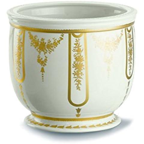 Giulia Mangani Firenze - Vaso cache-pot in porcellana bianca e