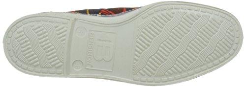 Bensimon - Tennis Lacet Imprimes, Basse Donna Blu (Marine)