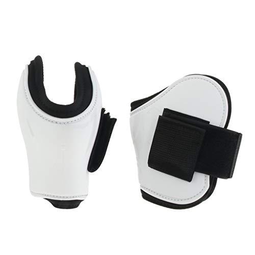 Toygogo 1 Paar Pferd Beinstiefel Hinterbein Streichkappen Schutz Reiter - Weiß