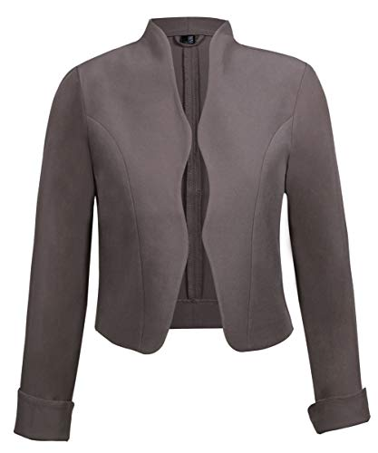 TrendiMax Damen Eleganter Blazer Jacke Kurz Bolero Jäckchen