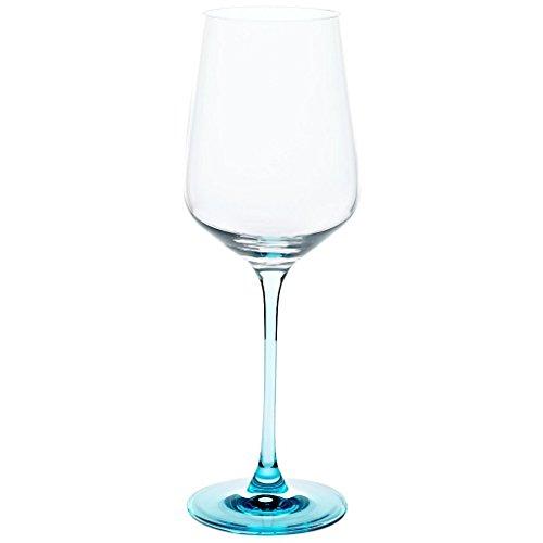 Weinkelch, Weinglas 'COLORINA' 450ml, blau, moderner Style (GERMAN CRYSTAL powered by CRISTALICA)