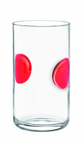 Bormioli Rocco Giove Cooler Glasses, Red, Set of 6 by Bormioli Rocco