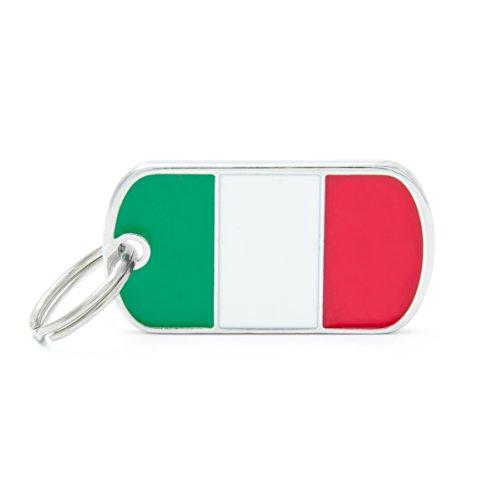 Médaille MyFamily Military Petite Flags Italie plaque chien gravure gratuite coutume chat
