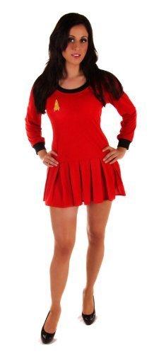 D/UP ADULT DRESS SPACE TRAVELLER (Kostüme Red Trek Star)