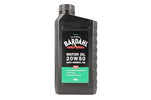 BARDAHL Classic Motor Oil SAE 20W50 100% Minerale Per Lubrificante Motori Auto D'epoca Dopo 1950 1 LT
