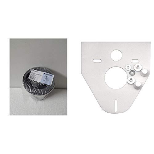 Geberit 152.426.46.1 Anschlussset für Wand-WC PE d90 / 110, 180mm mit Deckkappen & Cornat SSWWC Schallschutz-Set für Wand-WC und Wand-Bidet -