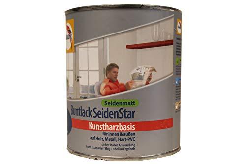 Glasurit Buntlack SeidenStar Seidenmatt Kunstharzbasis 750 ml Farbwahl, Farbe (RAL):Skyline Grau